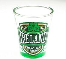 Loose Shot Glass with Ireland, Premium Irish and