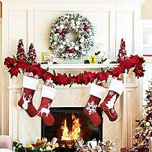LOOU Pack of 4 Christmas Socks Fireplace Christmas