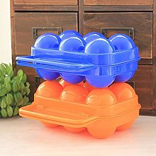 LOOUS Folding Portable 6 Eggs Holder Egg Container