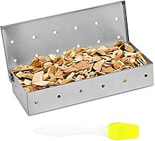 LOPOTIN Smoker Box BBQ Grill Wood Chips Stainless