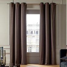 Lorca Eyelet Single Curtain Madura Colour: Gris