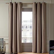 Lorca Eyelet Single Curtain Madura Colour: Taupe