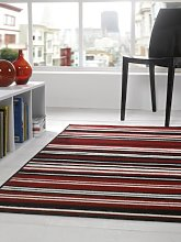 Lord of Rugs Large Contemporary Stripe Design Red