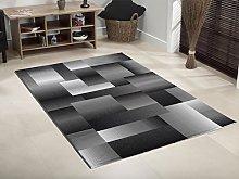 Lord of Rugs Modern Geometric Design Soft Black