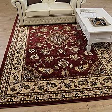 Lord of Rugs Quality Traditional Classic Red Rug,