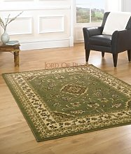 Lord of Rugs Runner Green Rug Traditional Carpet
