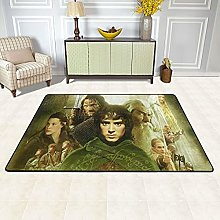 Lord Of The Rings Shaggy Area Rug,Ultra Soft