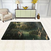 Lord Of The Rings Super Soft Shag Area Rug Modern