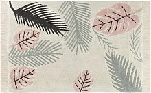 Lorena Canals Cotton Rug - Plants - Tropical Pink