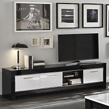 Lorenz Large TV Stand In Black And White High