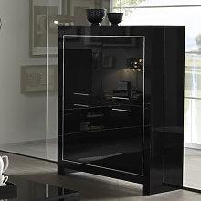 Lorenz Modern Bar Unit In Black High Gloss With 4