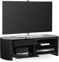 Lorraine Small Wooden TV Cabinet In Black Oak With
