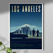 Los Angeles Poster - California Travel Print |
