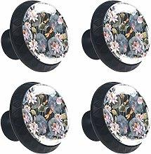 Lotus 4PCS Round Drawer Knob Pull Handle Cupboard