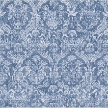 Lotus Damask 10m x 52cm Wallpaper Roll Marlow Home