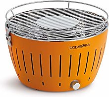 Lotus Grill bbq in orange with free fire lighter