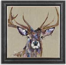 Louise Luton - 'Majesty' Stag Framed