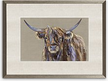 Louise Luton - Archie Highland Cow Framed Print &