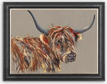 Louise Luton - Hamish Framed Print, 90 x 116cm,