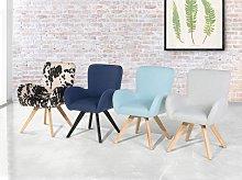 Lounge Chair Dark Blue Fabric Upholstery Modern