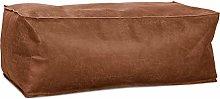 Lounge Pug - Distressed Leather - Large Footstool
