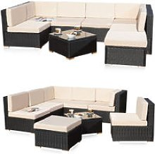 Lounge Seating Set Seating Group Rattan Garden