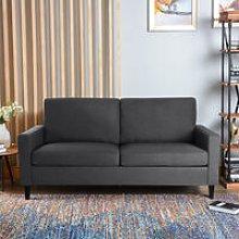 Lounge Settee Upholstered Linen Fabric Sofa, 3