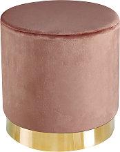 Lourd Pouffe Pink Velvet (Pack Of 1)