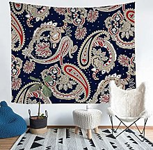 Loussiesd Boho Paisley Print Tapestry for Girls