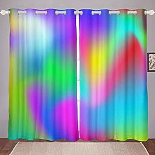 Loussiesd Boho Psychedelic Blackout Curtains for