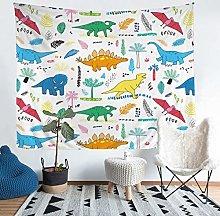 Loussiesd Dinosaur Wall Tapestry Cartoon Dinosaur