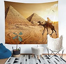 Loussiesd Egypt Tapestry Pharaoh Pyramid Print