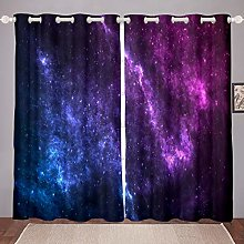 Loussiesd Galaxy Curtains Outer Space Themed
