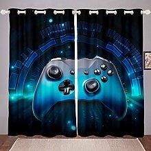 Loussiesd Galaxy Gamepad Curtains 3D Video Game