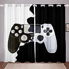 Loussiesd Gamer Curtain for Kids Boys Children