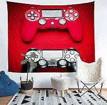 Loussiesd Gamer Tapestry Boys Black Red Gamepad