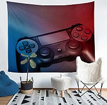 Loussiesd Gamer Wall Blanket Boys Black Gamepad