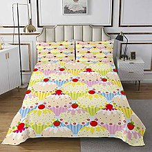 Loussiesd Girls Cake Bedspread desserts Quilted