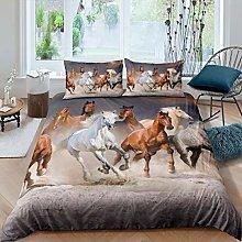 Loussiesd Girls Horse Bedding Set for Kids Women