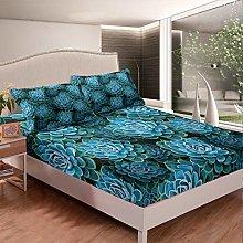 Loussiesd Girly Succulent Bedding Set Girls Chic