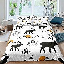 Loussiesd Kids Moose Bedding Set for Girls Boys