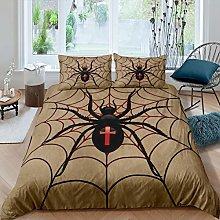 Loussiesd Kids Spider Bedding Set Boys Halloween