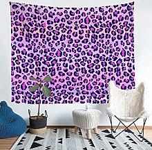 Loussiesd Leopard Print Wall Blanket Purple