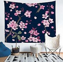Loussiesd Sakura Tapestries Wall Hanging for Kids