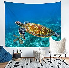Loussiesd Sea Turtle Tapestry 6D Reptile Print
