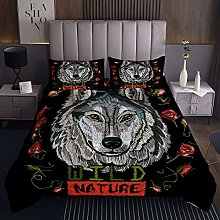 Loussiesd Wolf Quilted Coverlet Red Rose Coverlet