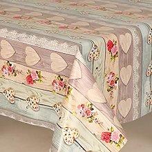 Love Bouquet Pvc Wipe Clean Vinyl Table