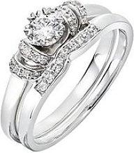 Love Diamond 9Ct White Gold 29 Point Diamond