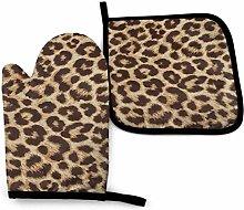 LOVE GIRL Fun Leopard Print Cotton Kitchen Oven