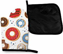 LOVE GIRL Patriotic Donuts Oven Mitts and Pot